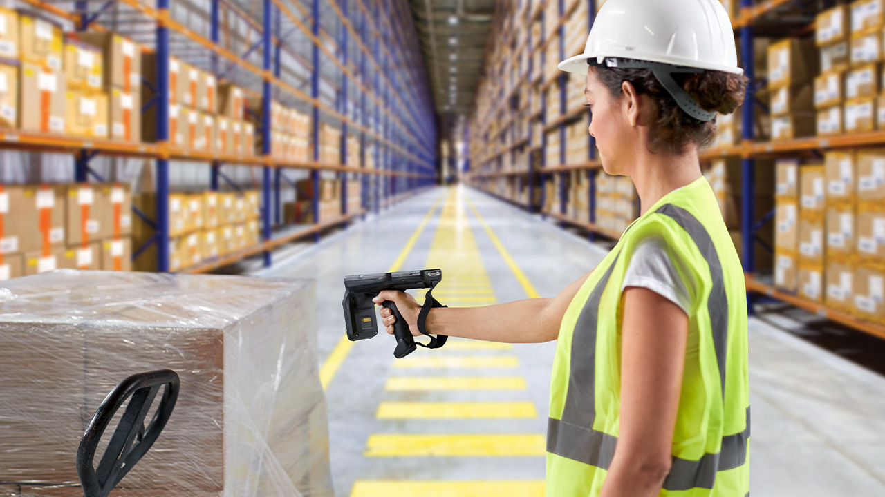 Warehouse Worker Using RFID Technology